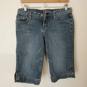 Bebe Bermuda Jean Shorts